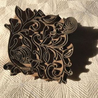 The trusty Snails in Leaves woodblock