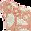 Thumbnail: 40cm Dahlia & Beetles linen cushion cover