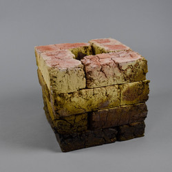 16 red bricks arr. in cube