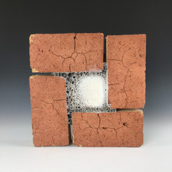 4 Red Bricks with Foaming Glaze