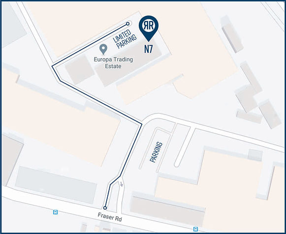 Map to find resilient rehab physiotherapy and sports injuries clinic, Erith, Kent