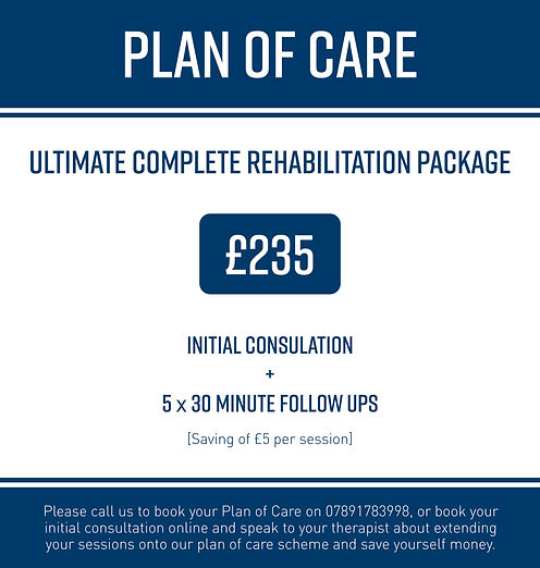 Plan of care for physiotherapy and sports injuries rehabilitation