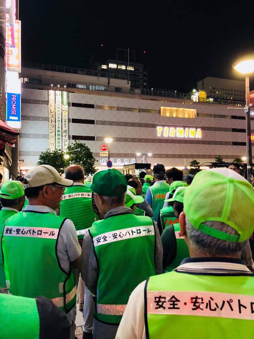 錦糸町駅南口防犯パトロール