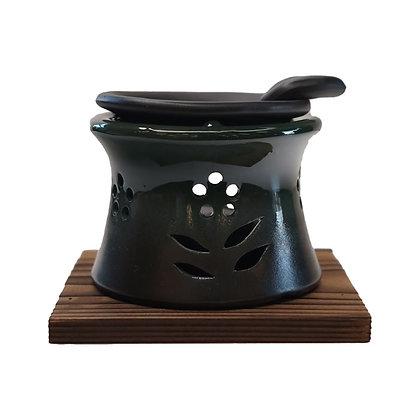 山房 茶香炉 杉板付