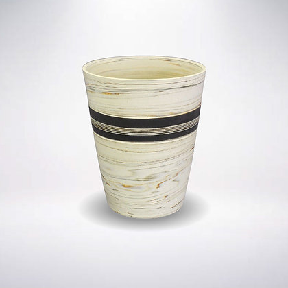 憲児陶苑 マグカップ 白練込み黒中帯