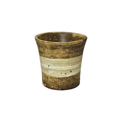 焜清 茶釉 焼酎カップ