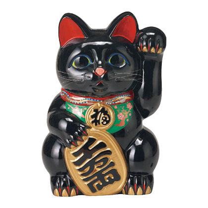 黒小判猫(左手) 招き猫