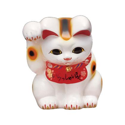 おじぎ猫 白 招き猫