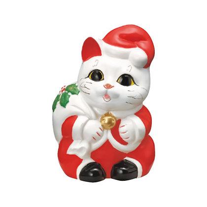 サンタ猫 白 招き猫