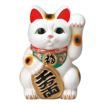 白小判猫(左手) 招き猫
