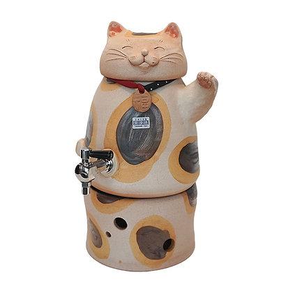 焜清 招き猫 三毛猫 焼酎サーバー