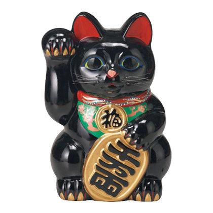黒小判猫(右手) 招き猫