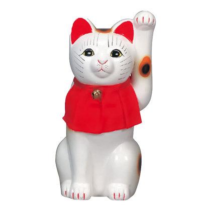 細猫 白 招き猫