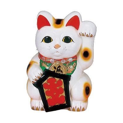 大入白猫(左手) 招き猫