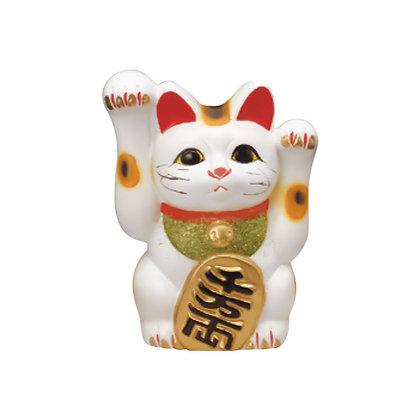 両手福招猫 白 招き猫