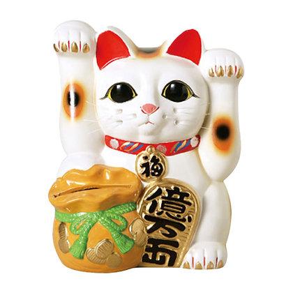 両手上げ宝当猫 招き猫