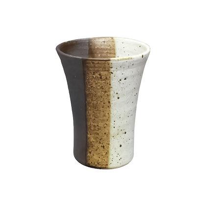 焜清 白釉掛分け 焼酎カップ