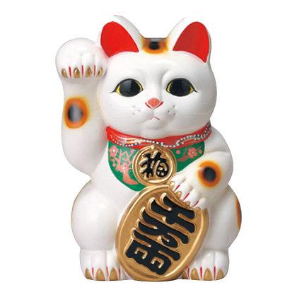 白小判猫(右手) 招き猫