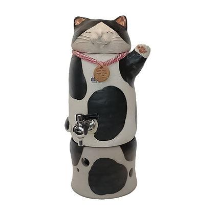 焜清 招き猫 黒猫 焼酎サーバー