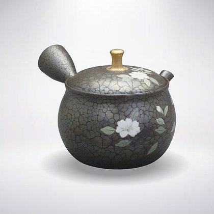 昭龍窯 セラメッシュ 昭龍天目 金つまみ山茶花 貼箱入
