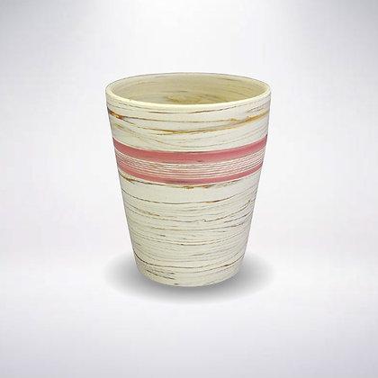憲児陶苑 マグカップ 白練込みピンク中帯