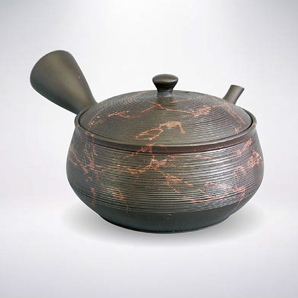 玉光窯 セラメッシュ 茶窯変 筋入り藻掛け