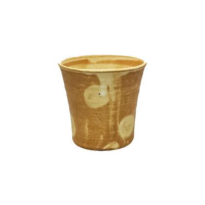 焜清 茶釉ドット 焼酎カップ