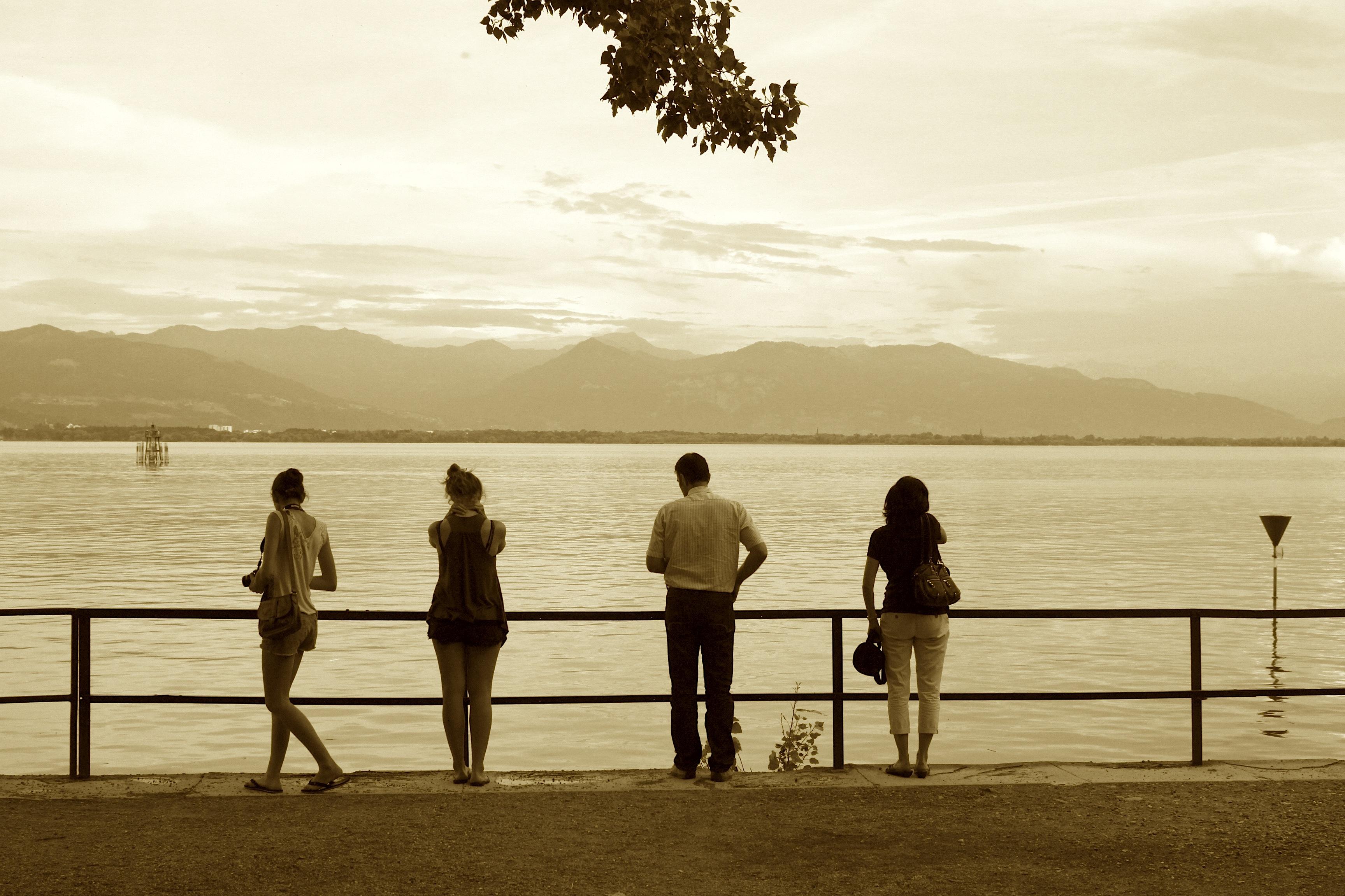 Menschen am Bodensee