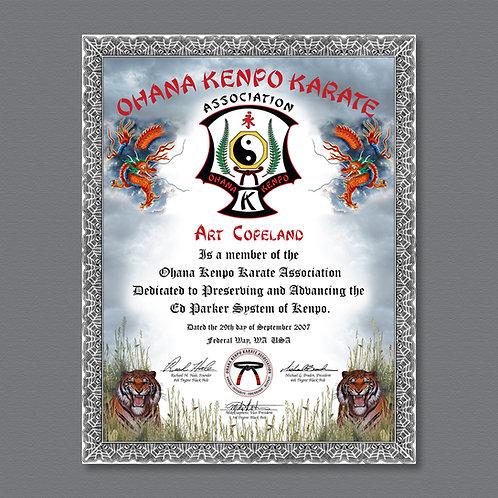 Membership Certificates