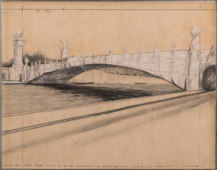 WRAPPED BRIDGE - PROJECT FOR LE PONT ALEXANDRE III - DES INVALIDES - PARIS 1900
