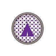 Purple Patterned Tent Badge