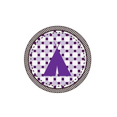 Purple Patterned Tent Badge