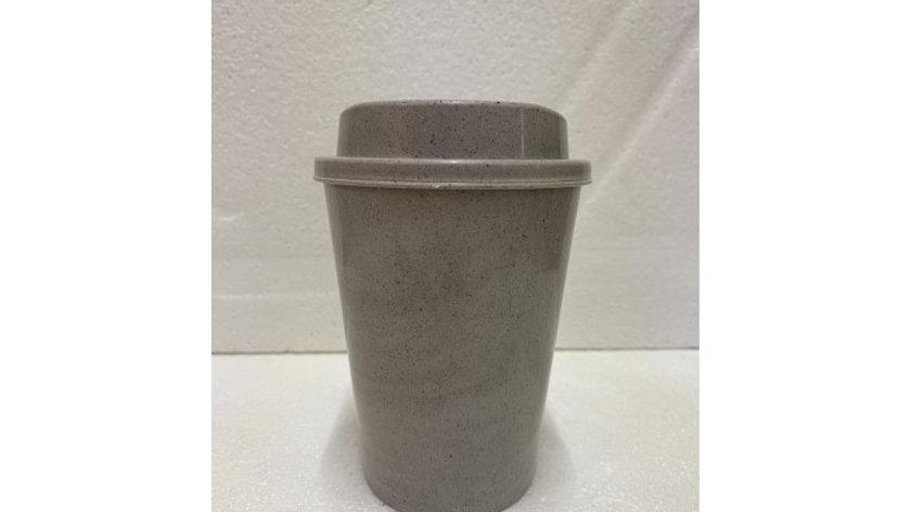 Paquete de 10 vasos reusables 375 ml con fibra de café