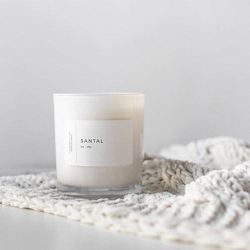 White Tumbler Candle SANTAL