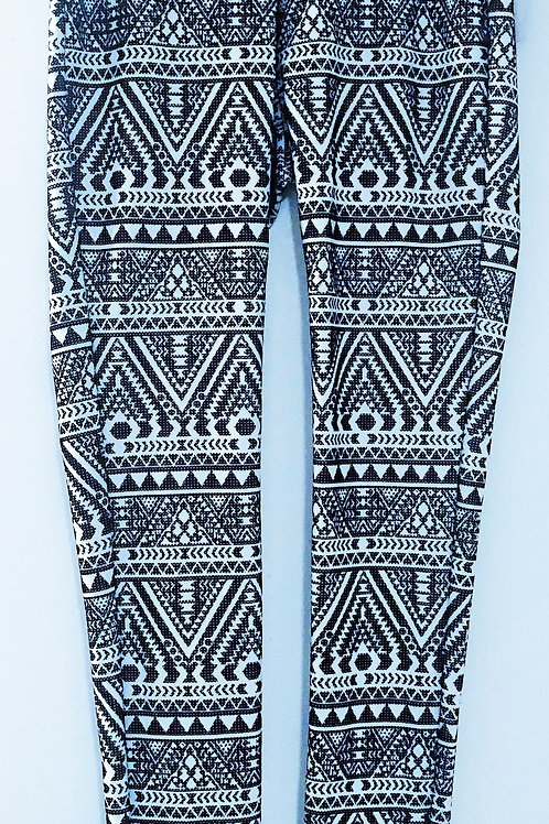 Black / White Print leggings