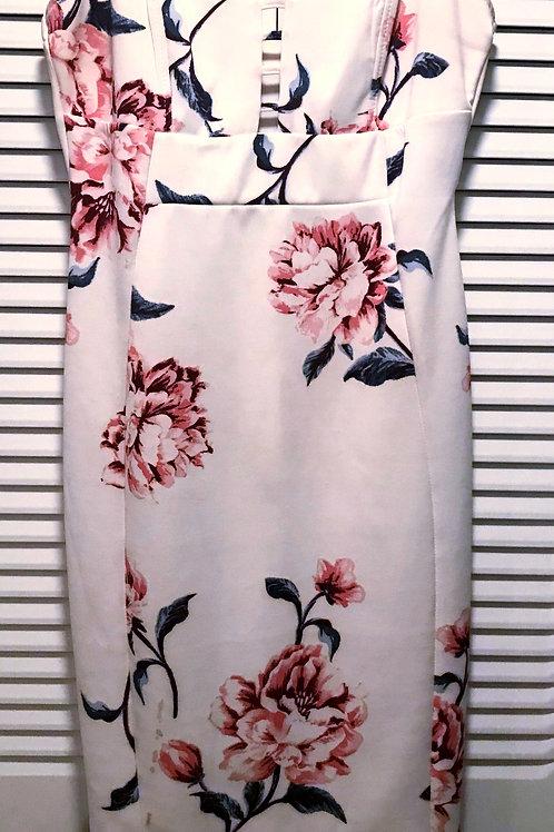 White Flowers Tank Dress