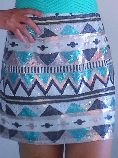 Skirt-Sequin-Black Mint