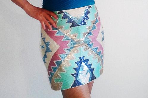 Skirt Sequin-Blue Star