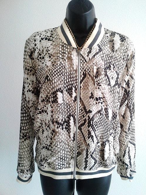 Jacket-Snake Print
