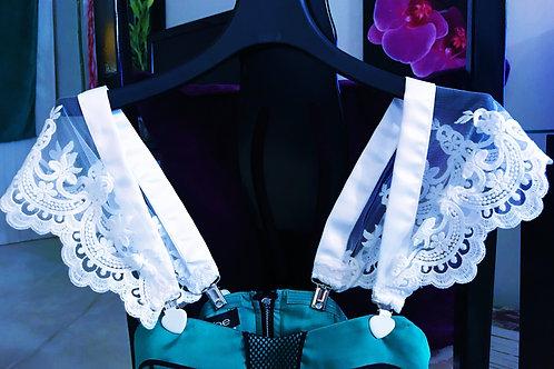 White Lace Dress Straps