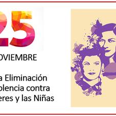 25 de noviembre día en contra de la violencia contra las mujeres y las niñas