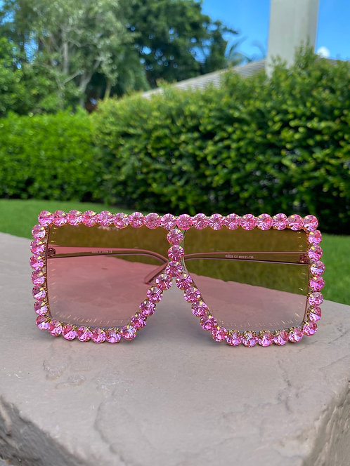 YAZMIN- Pink Studs