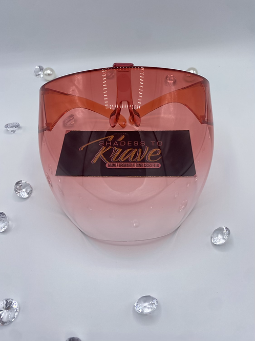 CAMILLE VISORS- Clear Red