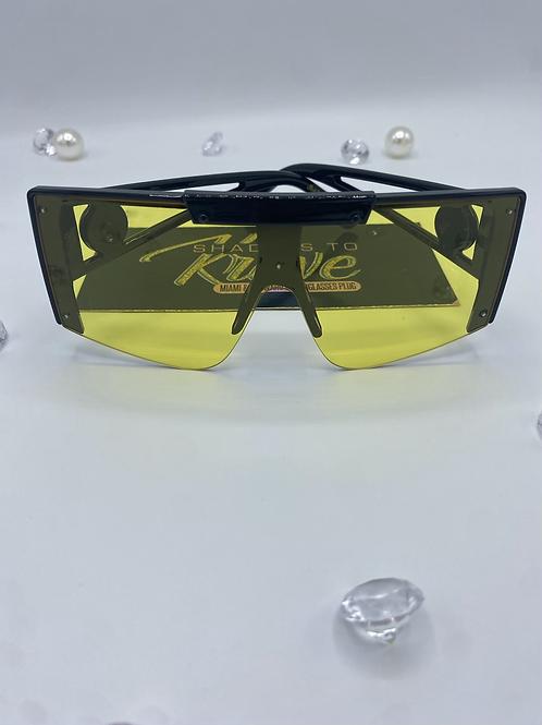 GISSELLE- Yellow Lens/ Black Frame (UNISEX)