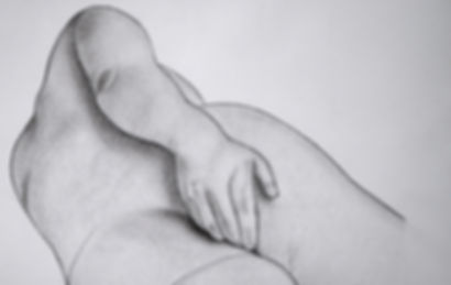 """The Sweet Spot"" Detail.  Charcoal and graphite on Fabriano Drawing Paper. 16 1/2"" x 23"".  2007.  Manny Reyes"