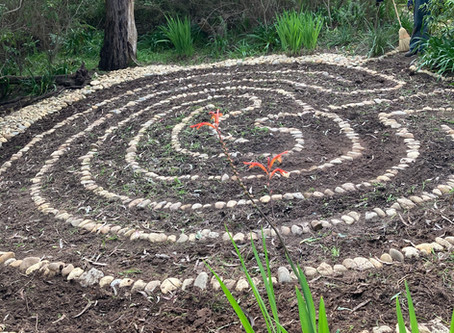 The labyrinth is built!