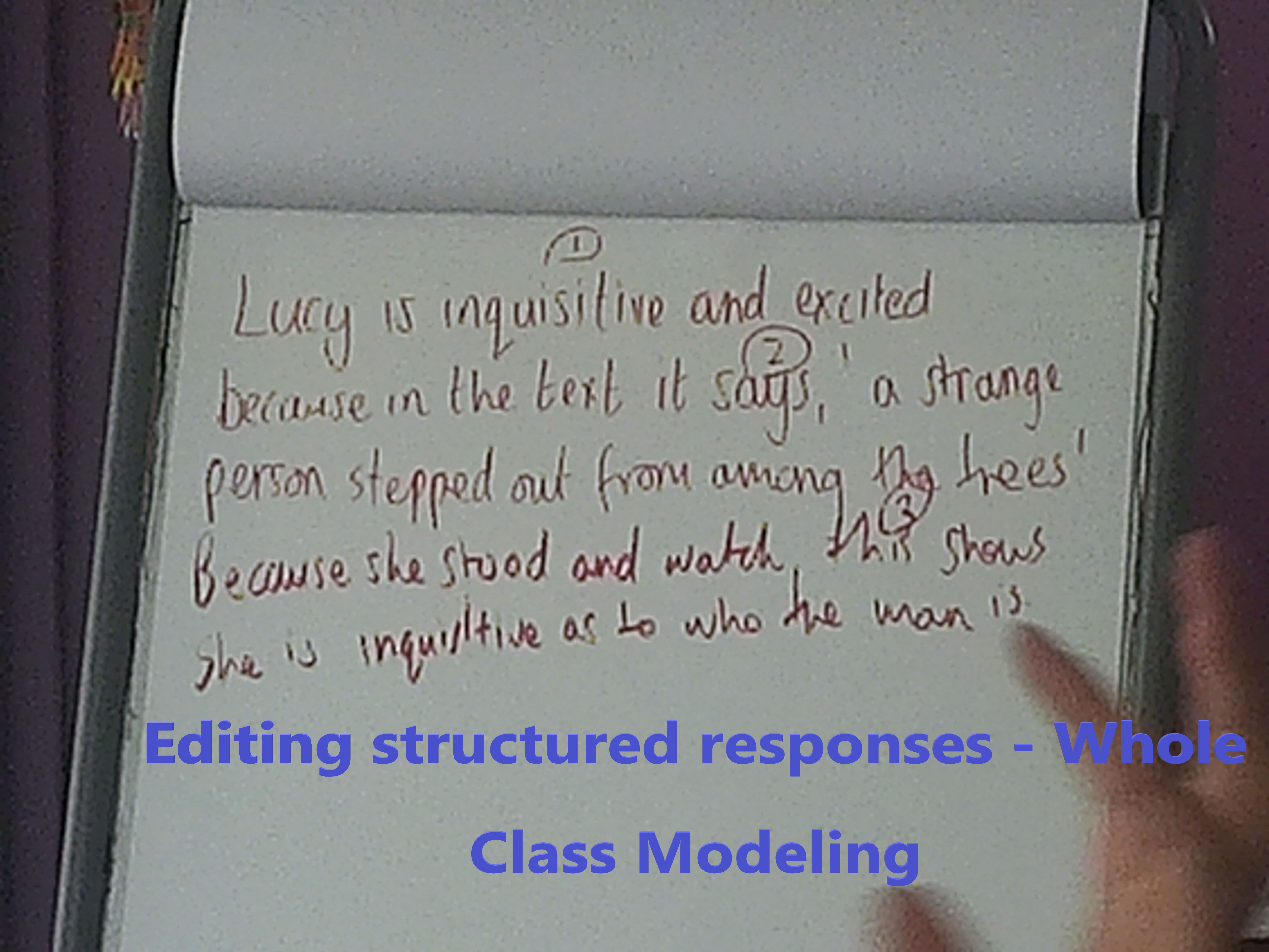 Modelling and thinking out loud