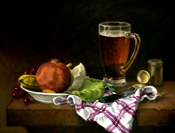 Still-life with Glass of Beer
