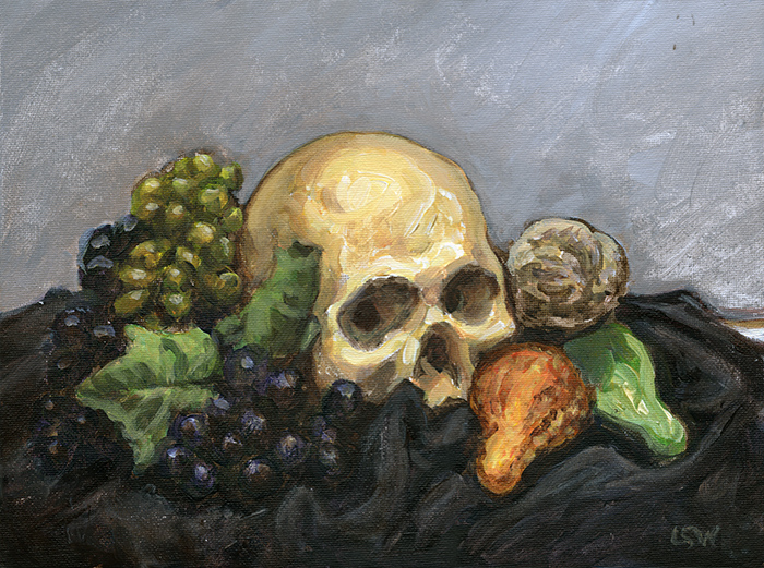 Skull with Gourds