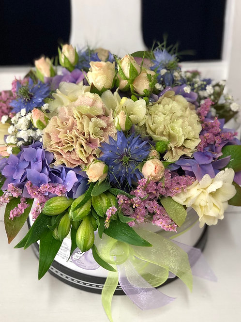 Hat Box Bouquet - from $80